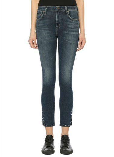 Citizens Of Humanity Slim Fit Dar Paça Jean Pantolon Mavi
